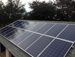 Roof mount solar panels for off grid living