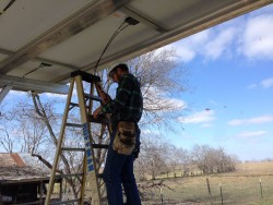 off grid maintenance of solar panels
